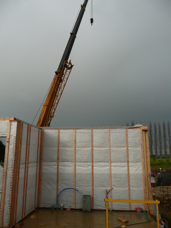 Formatbois les tapes de construction d une maison ossature bois - Les etapes de construction d une maison ...